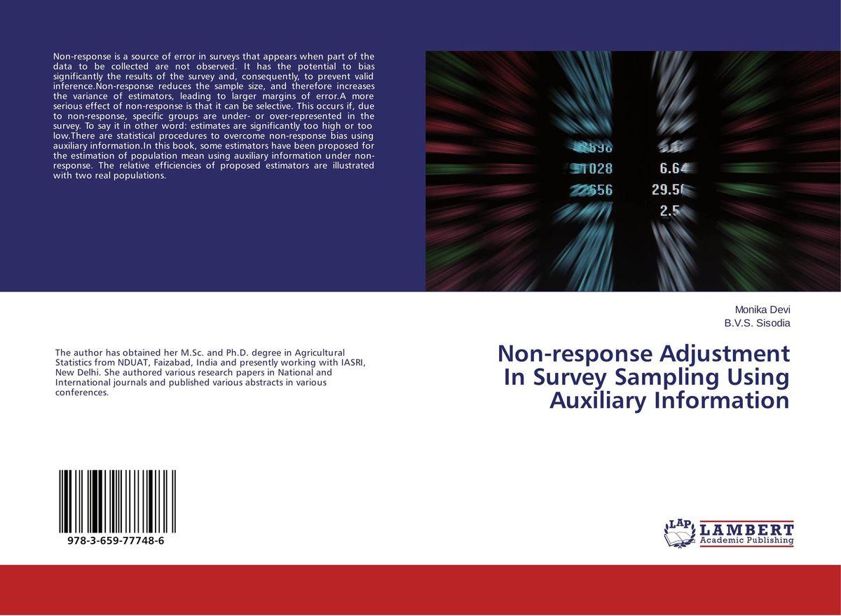 Non-response Adjustment In Survey Sampling Using Auxiliary Information dn19 manual sanitary aseptic sampling valve