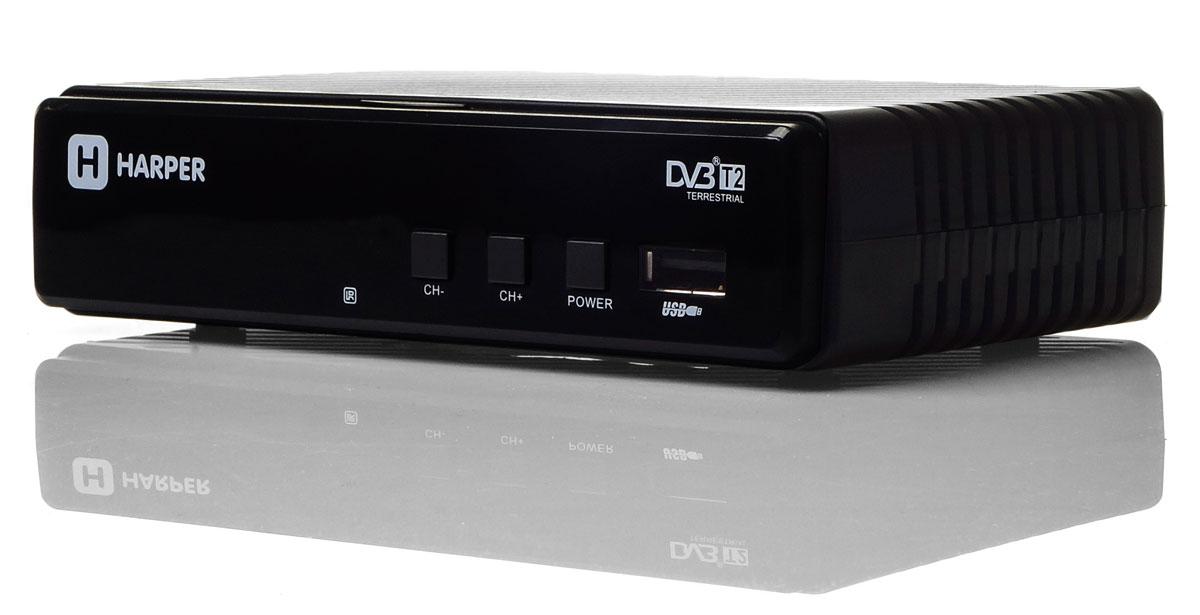 Harper HDT2-1513, Black цифровой телевизионный ресивер DVB-T2 - ТВ-ресиверы