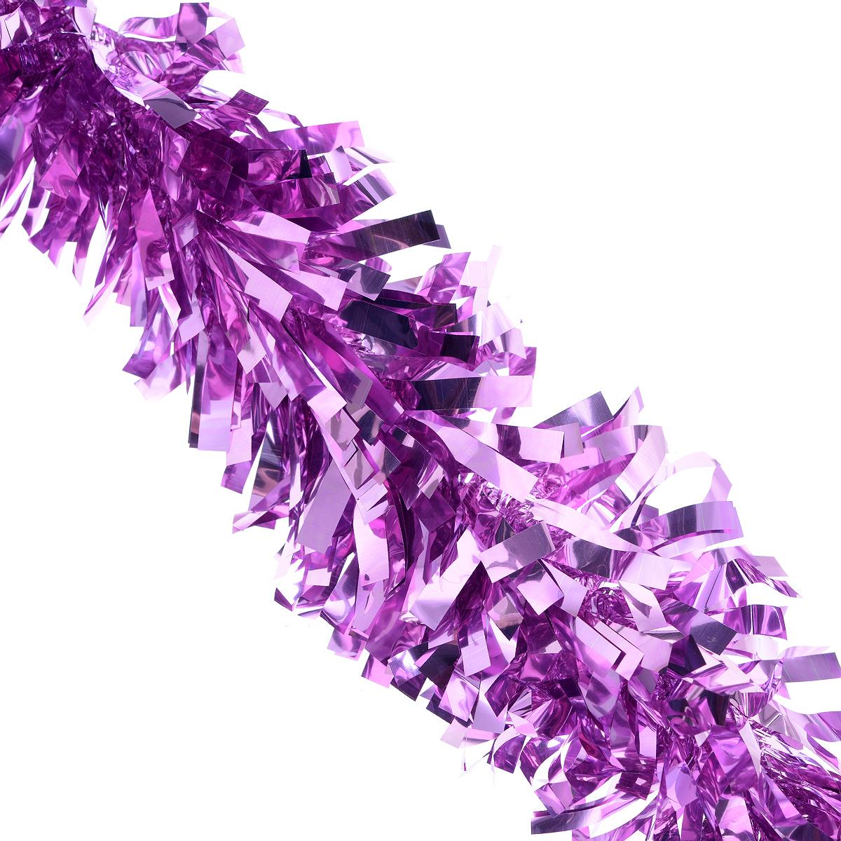 Мишура новогодняя Феникс-презент Magic Time, цвет: сиренево-розовый, диаметр 9 см, длина 200 см. 38188ЕХ 11028Мишура новогодняя Феникс-презент Magic Time, выполненная из ПЭТ (полиэтилентерефталата), поможет вам украсить свой дом к предстоящим праздникам. Мишура армирована, то есть имеет проволоку внутри и способна сохранять приданную ей форму. Новогодняя елка с таким украшением станет еще наряднее. Новогодней мишурой можно украсить все, что угодно - елку, квартиру, дачу, офис -как внутри, так и снаружи. Можно сложить новогодние поздравления, буквы и цифры,мишурой можно украсить и дополнить гирлянды, можно выделить дверные колонны,оплести дверные проемы.