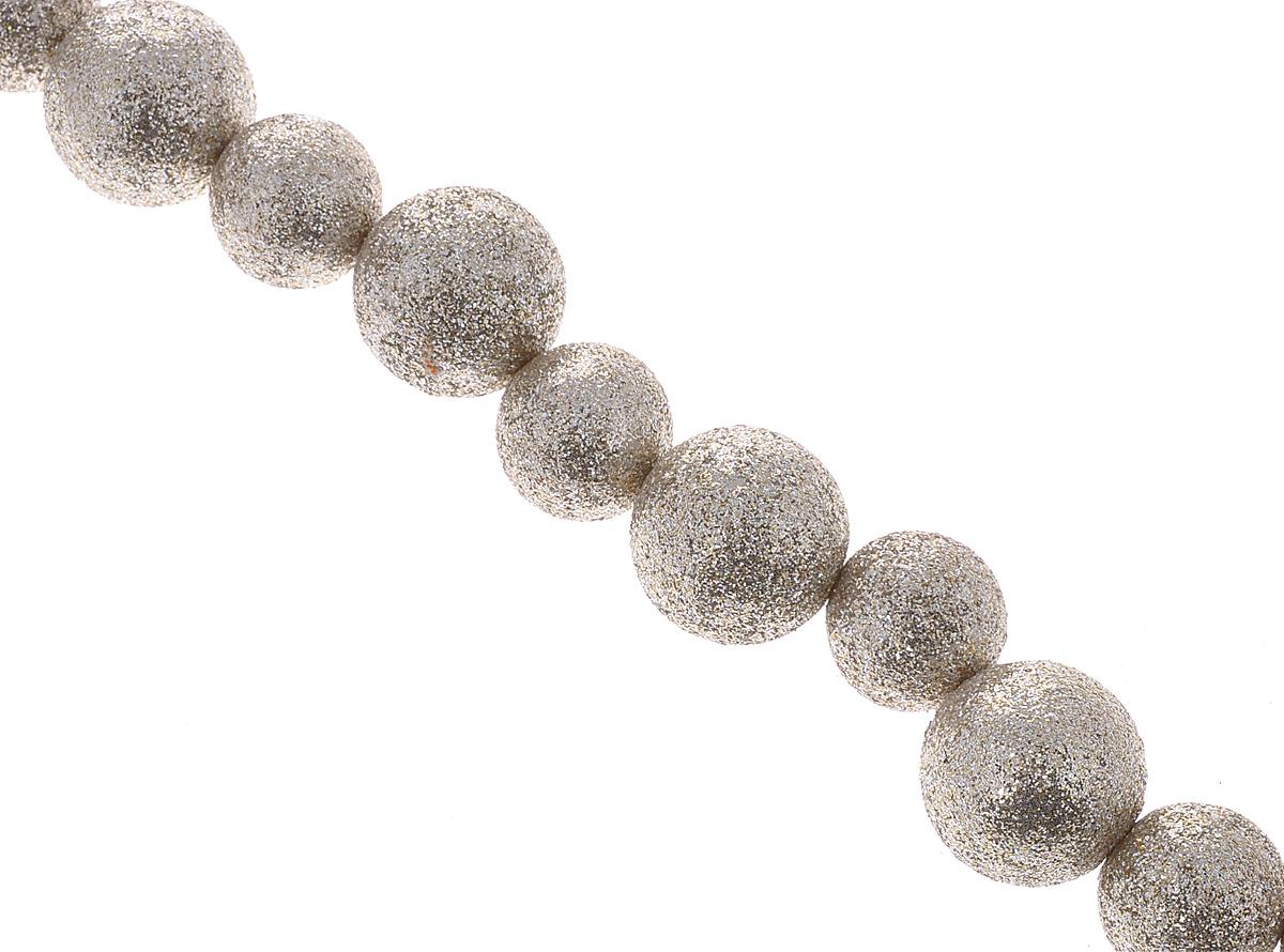 Новогоднее украшение Lunten Ranta Бусы. Эффект, цвет: серебристый, золотистый, длина 1,8 м новогодняя гирлянда lunten ranta цвет серебристый длина 2 м 65515