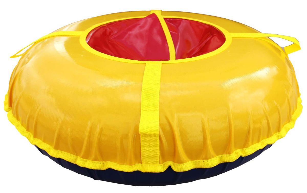 Тюбинг Super Jet Tubing Turbo, цвет: желтый, красный, диаметр 95 см. Арт. SJT-95TT сани надувные super jet tubing princess диаметр в надутом состоянии 62 см рисунок принцессы арт sjt 62r