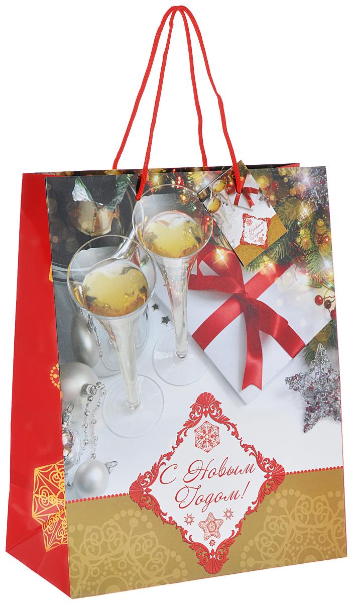 Пакет подарочный Феникс-Презент Брызги шампанского, 26 х 32,4 х 12,7 см феникс презент