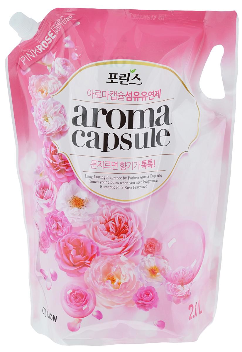 Кондиционер для белья Cj Lion Porinse Aroma Capsule, с ароматом розы, 2,1 л