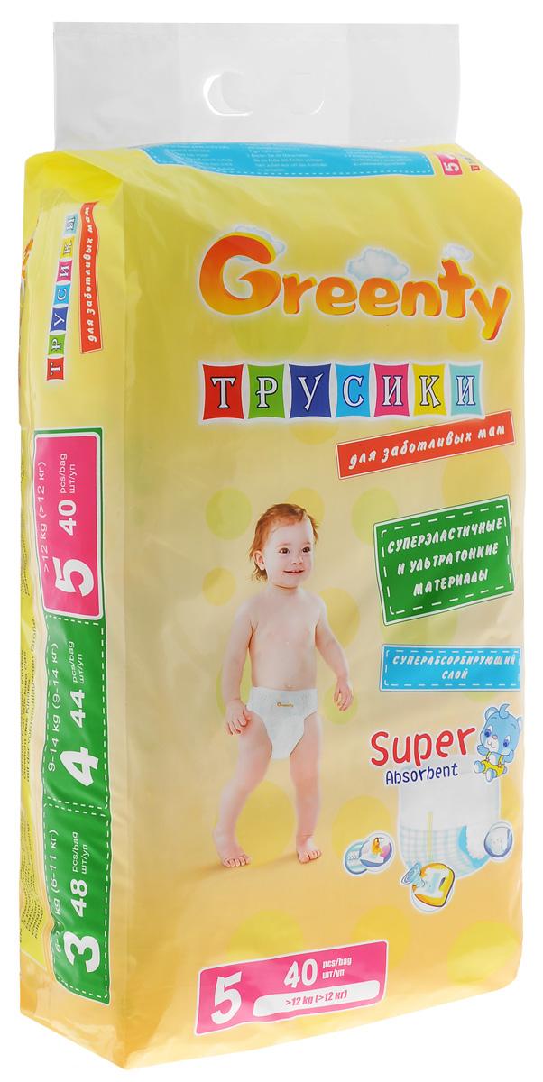 Greenty Подгузники-трусики от 12 кг 40 шт