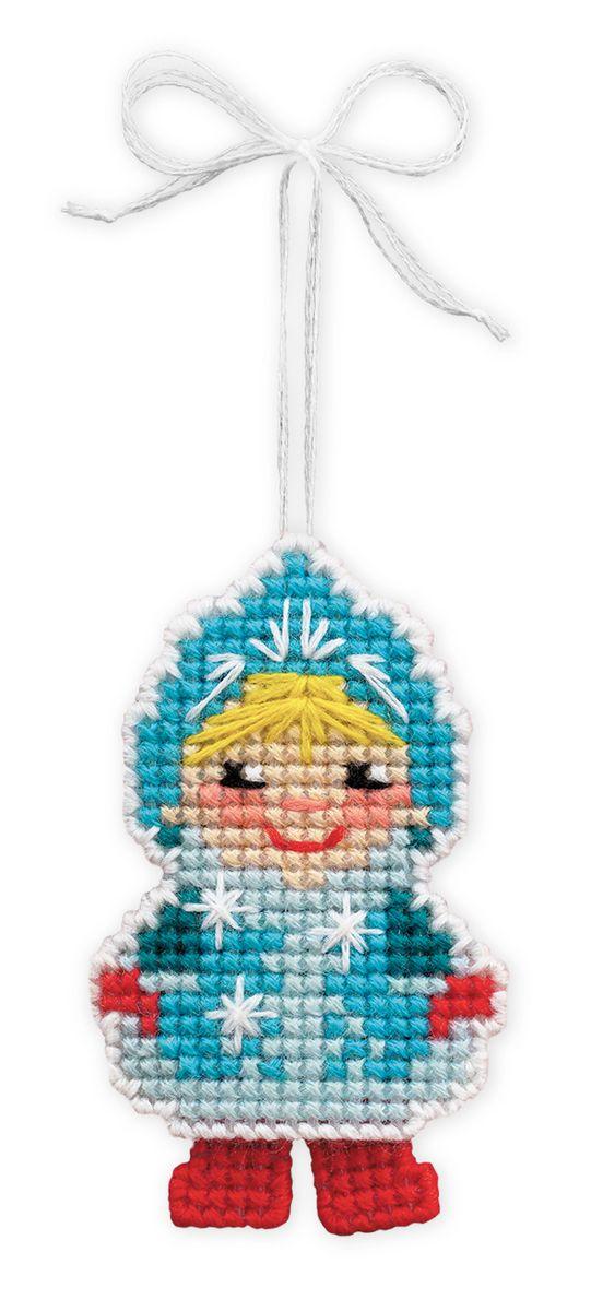Набор для изготовления подвесного украшения Riolis Новогодняя игрушка. Снегурочка, 5,5 см х 8 см набор для вышивания с бисером riolis богоматерь казанская