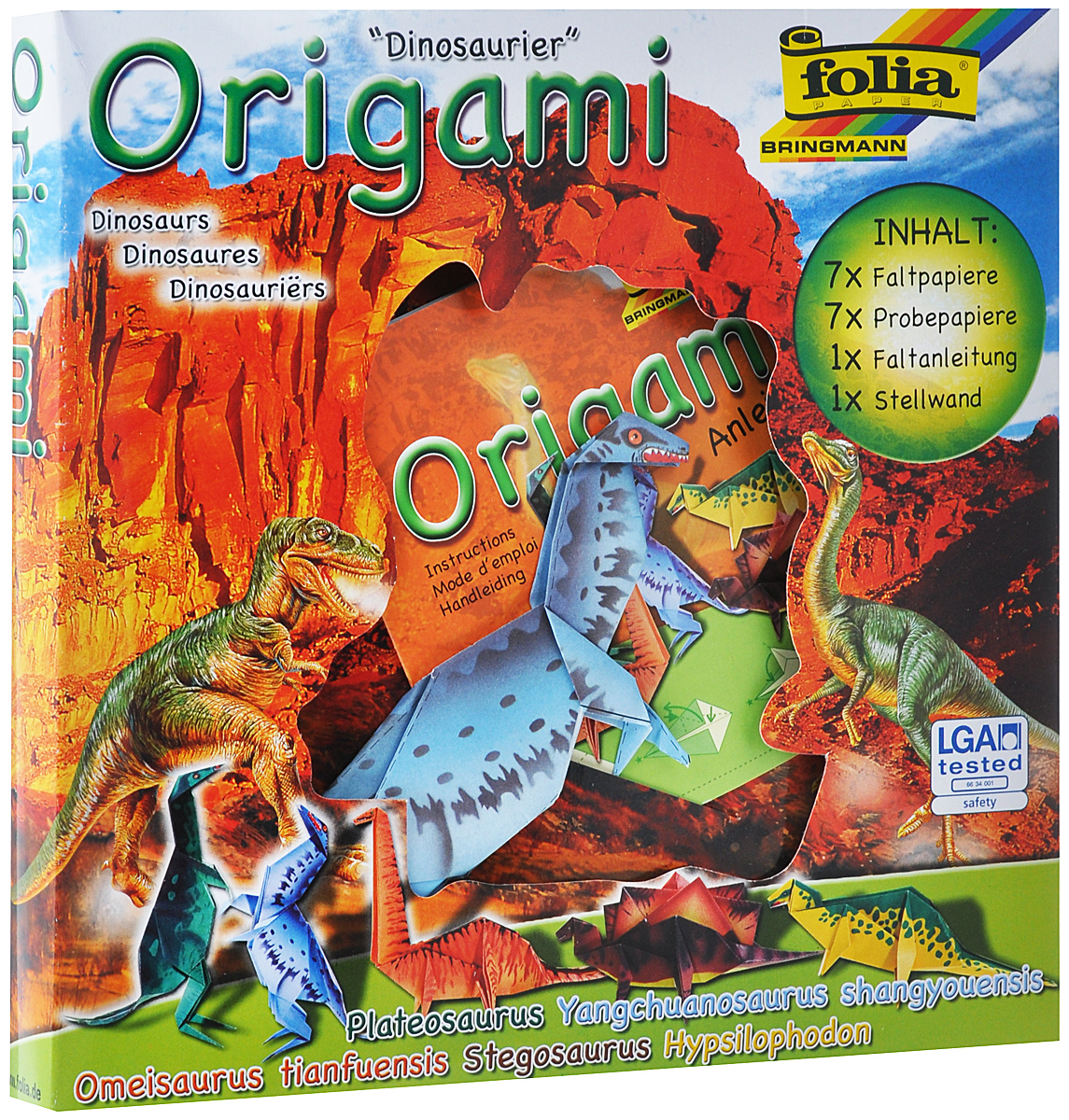 Набор для изготовления оригами Folia Мир животных. Динозавры folia набор для детского творчества креатив