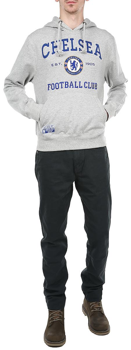 Толстовка мужская Chelsea, цвет: светло-серый. 08420. Размер XS (44)