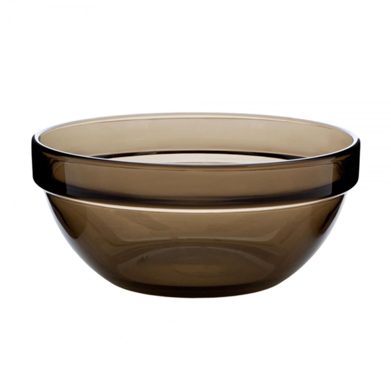 Салатник Luminarc, цвет: коричневый, диаметр 17 смH9992Салатник Luminarc, диаметром 17 см, подойдет любителям простых и удобных вещей. Он предназначен для подачи и хранения салатов, холодных закусок и десертов. Прозрачный салатник классической формы из ударопрочного стекла впишется в интерьер любой кухни или столовой. Можно мыть в посудомоечной машине.