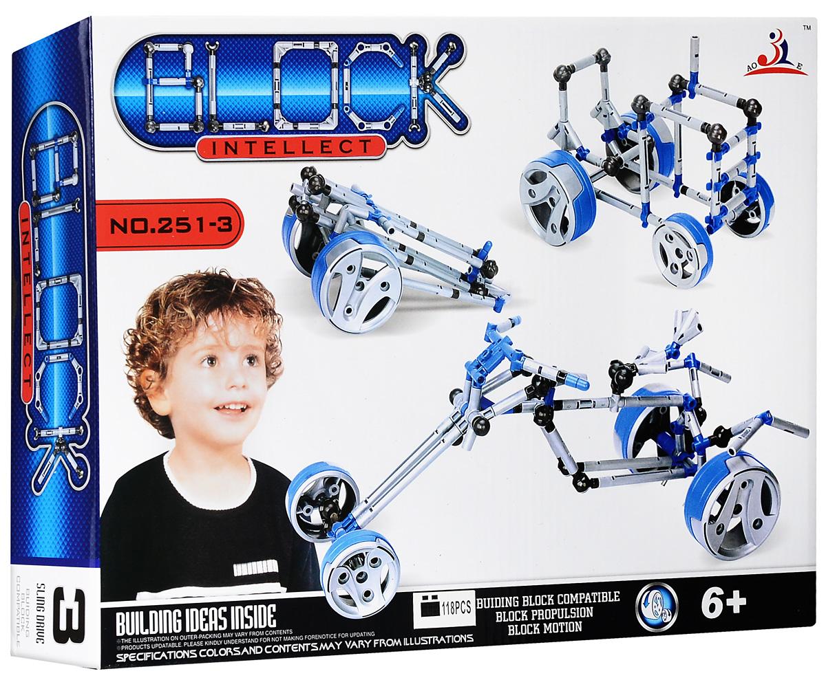 Intellect Block Конструктор Четырехколесный байк intellect block конструктор багги 2 в 1