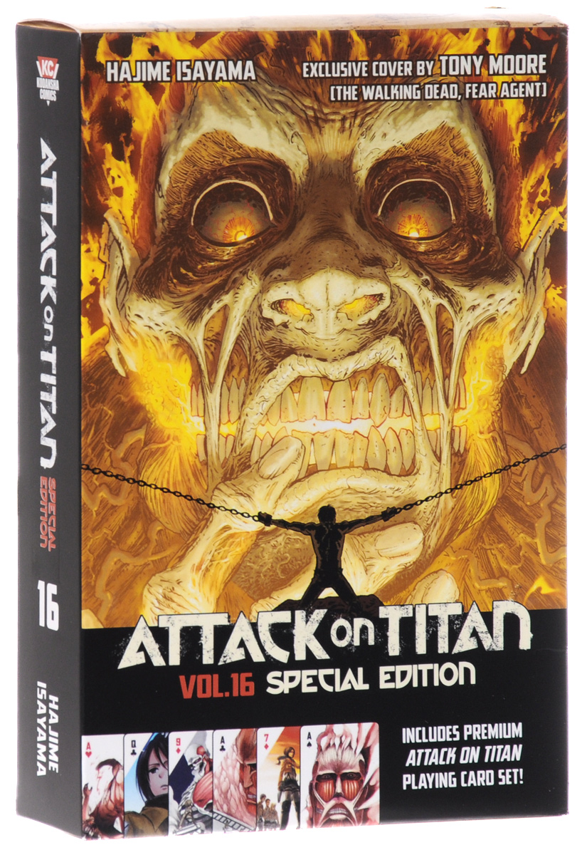 Attack on Titan: Volume 16: Special Edition with Playing Cards attack on titan harsh mistress of the city part 2