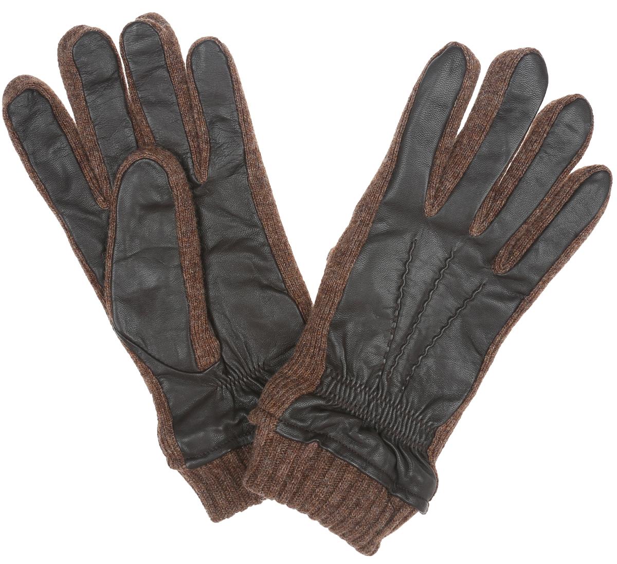 Перчатки мужские Labbra, цвет: темно-коричневый. LB-03002. Размер 9