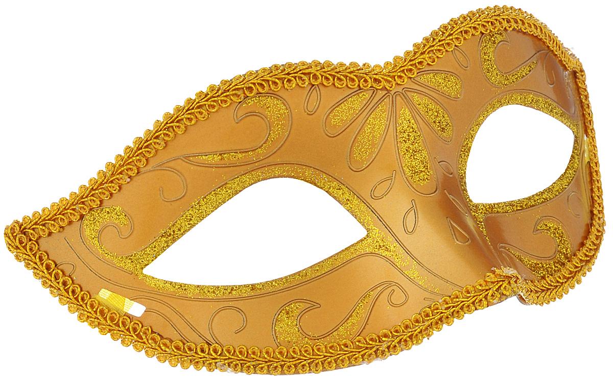 Маска карнавальная Феникс-презент Золото, цвет: золотистый30987Карнавальная маска Феникс-презент Золото, изготовленная из пластика иукрашенная блестками, внесет нотку задора и веселья в праздник. Маска станетзавершающим штрихом в создании праздничного образа. Изделие крепится наголове при помощи атласной ленты. В этой роскошной маске вы будетенеотразимы!
