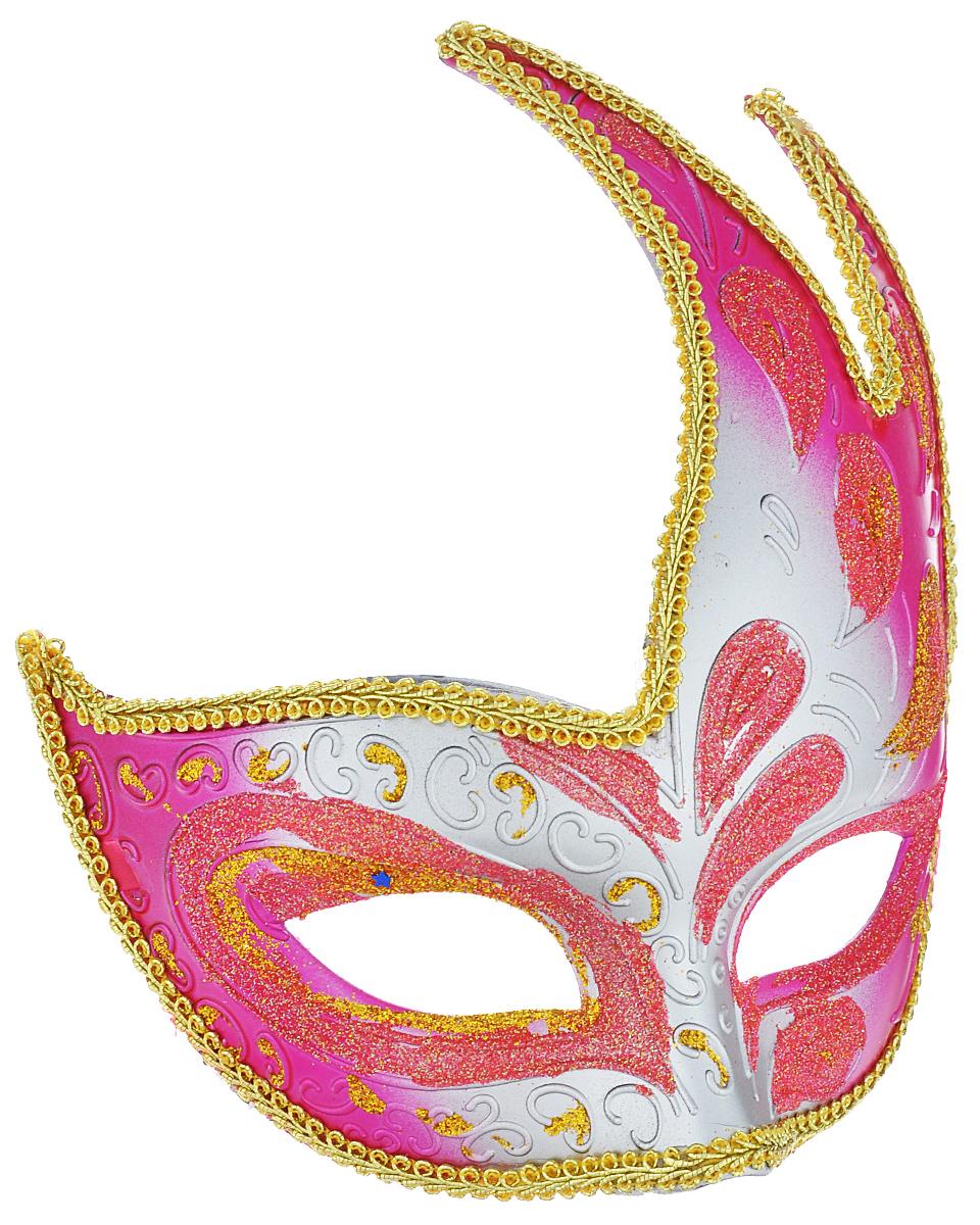 Маска карнавальная Феникс-презент Жар-птица, цвет: розовый, серебристый, золотистый protective pu leather case bag for fujifilm x100 brown