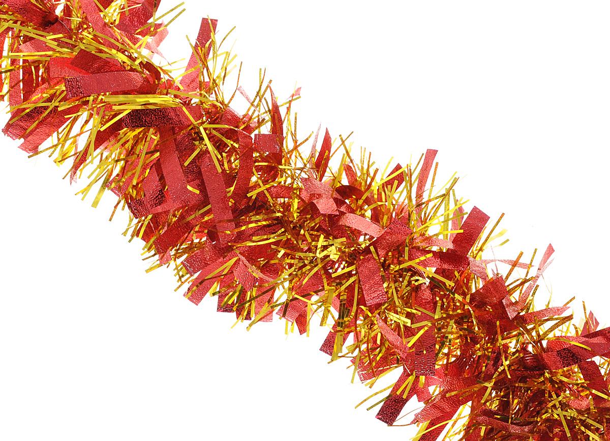 Мишура новогодняя Феникс-презент Magic Time, цвет: красный, золотистый, диаметр 9 см, длина 200 см34887Мишура новогодняя Феникс-презент Magic Time, выполненная из ПЭТ (полиэтилентерефталата), поможет вам украсить свой дом к предстоящим праздникам. Мишура армирована, то есть имеет проволоку внутри и способна сохранять приданную ей форму.Новогодняя елка с таким украшением станет еще наряднее. Новогодней мишурой можно украсить все, что угодно - елку, квартиру, дачу, офис - как внутри, так и снаружи. Можно сложить новогодние поздравления, буквы и цифры, мишурой можно украсить и дополнить гирлянды, можно выделить дверные колонны, оплести дверные проемы.