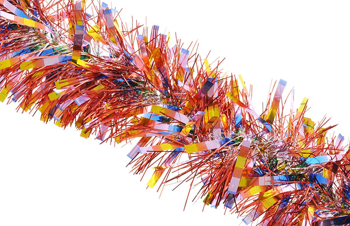 Мишура новогодняя Феникс-презент Magic Time,цвет: красный, розовый, золотистый, диаметр 14 см, длина 200 см. 3819138191/75782Мишура новогодняя Феникс-презент Magic Time, выполненная из ПЭТ (полиэтилентерефталата), поможет вам украсить свой дом к предстоящим праздникам. Мишура армирована, то есть имеет проволоку внутри и способна сохранять приданную ей форму.Новогодняя елка с таким украшением станет еще наряднее. Новогодней мишурой можно украсить все, что угодно - елку, квартиру, дачу, офис - как внутри, так и снаружи. Можно сложить новогодние поздравления, буквы и цифры, мишурой можно украсить и дополнить гирлянды, можно выделить дверные колонны, оплести дверные проемы.