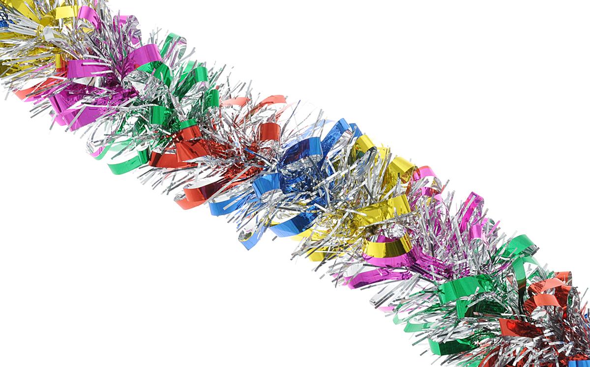 Мишура новогодняя Феникс-презент Magic Time, цвет: красный, синий, диаметр 8 см, длина 200 см. 38179 мишура новогодняя euro house цвет сиреневый диаметр 8 см длина 200 см