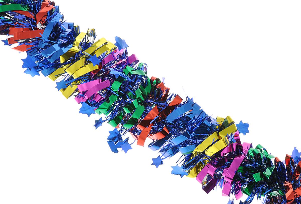 Мишура новогодняя Феникс-презент Magic Time, цвет: синий, красный, зеленый, диаметр 8 см, длина 200 см. 3817875769Мишура новогодняя Феникс-презент Magic Time, выполненная из ПЭТ (полиэтилентерефталата), поможет вам украсить свой дом к предстоящим праздникам. Мишура армирована, то есть имеет проволоку внутри и способна сохранять приданную ей форму. Новогодняя елка с таким украшением станет еще наряднее. Новогодней мишурой можно украсить все, что угодно - елку, квартиру, дачу, офис -как внутри, так и снаружи. Можно сложить новогодние поздравления, буквы и цифры,мишурой можно украсить и дополнить гирлянды, можно выделить дверные колонны,оплести дверные проемы.
