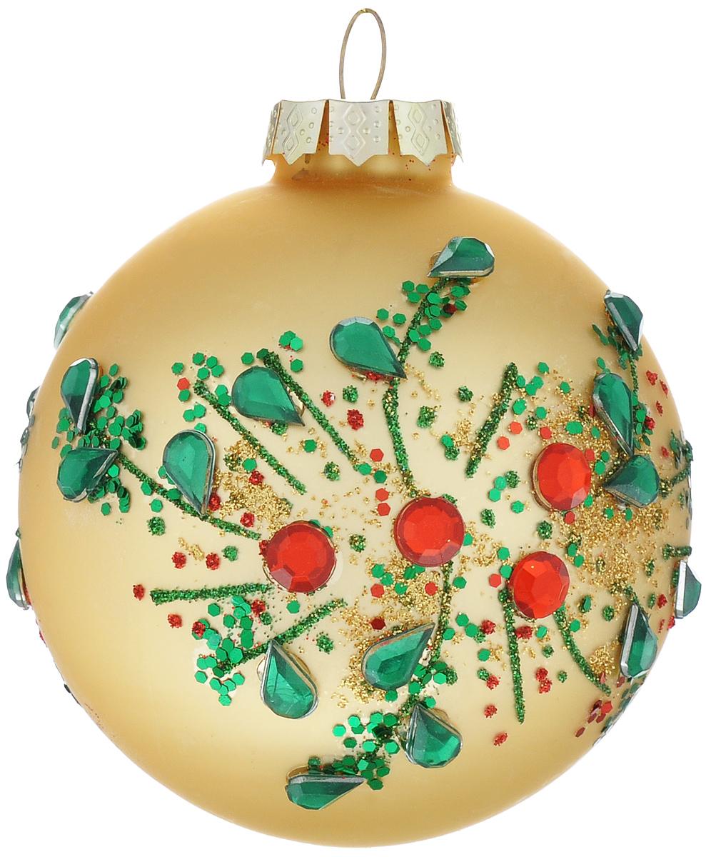 Новогоднее подвесное украшение Its a Happy Day Мерцание, диаметр 8 см66490Подвесное украшение Its a Happy Day Мерцание, выполненное изстекла, прекрасно подойдет для праздничного декора вашей ели.Оригинальное новогоднее украшение в виде шара оформлено блестками и стразами. С помощьюспециальной текстильной петельки его можноповесить в любом понравившемся вам месте. Но, конечно, удачнее всего такая игрушкабудетсмотреться на праздничной елке.Елочная игрушка - символ Нового года и Рождества. Она несет в себе волшебство и красотупраздника. Создайте в своем доме атмосферу веселья и радости, украшая новогоднюю елкунарядными игрушками, которые будут из года в год накапливать теплоту воспоминаний.