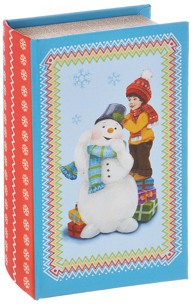 Шкатулка декоративная Феникс-презент Снеговик и мальчик, 17 см х 11 см х 5 см38476Декоративная шкатулка Феникс-презент Снеговик и мальчик, выполненная из МДФ, не оставит равнодушным ни одного любителя красивых вещей. Изделие украшено оригинальным рисунком и закрывается на магнит. Такая шкатулка может использоваться для хранения бижутерии, в качестве украшения интерьера, а также послужит хорошим подарком для человека, ценящего практичные и оригинальные вещи.