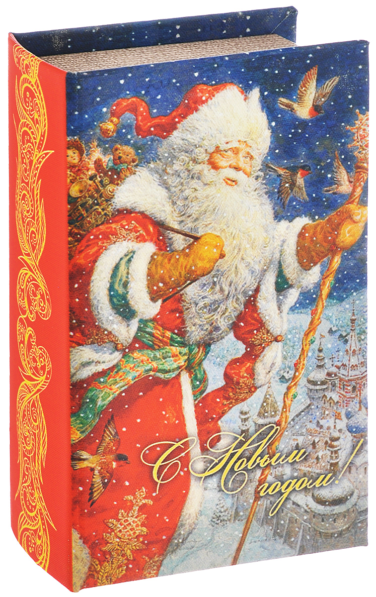 Шкатулка декоративная Феникс-презент Дед Мороз, 17 х 11 х 5 см шкатулка декоративная феникс презент подружки 10 5 х 8 х 6 см