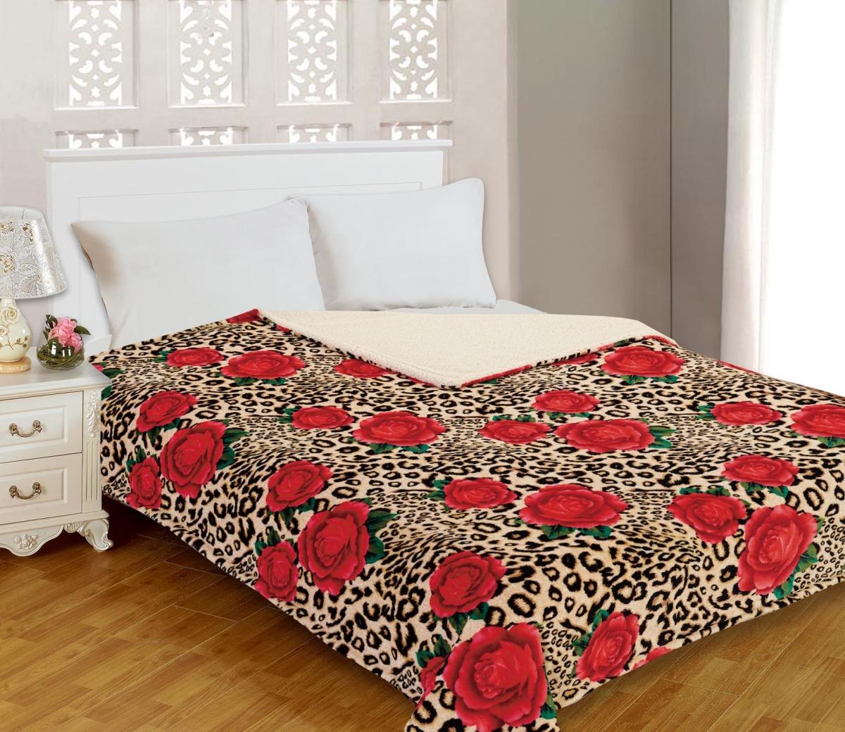 """Плед Buenas Noches """"Фланель. Fantasy"""", цвет: красный, бежевый, черный, 200 см х 220 см"""
