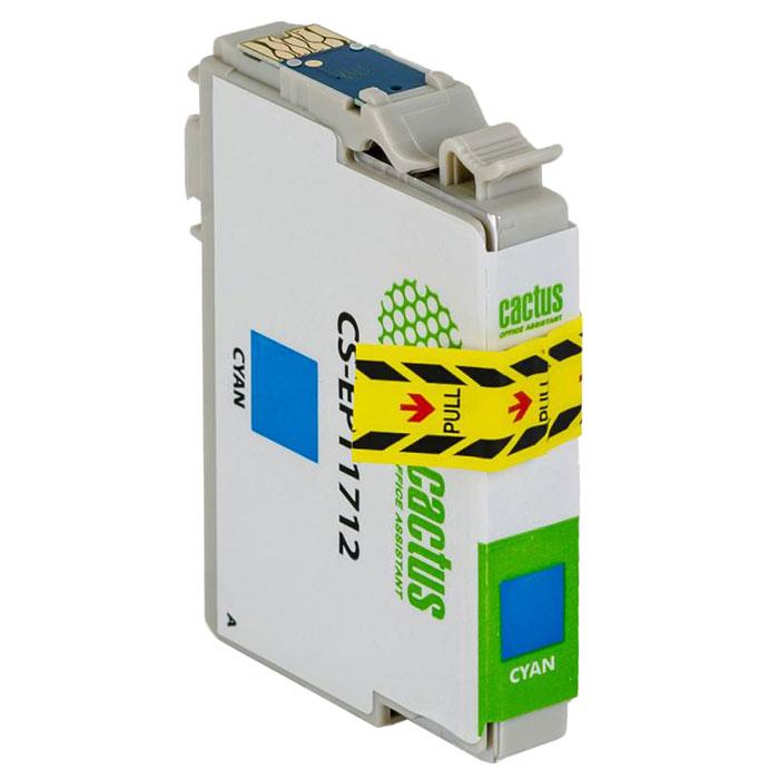 Cactus CS-EPT1712, Cyan струйный картридж для Epson Expression Home XP-33/103/203/207/303/306/403/406 принтер струйный epson l312