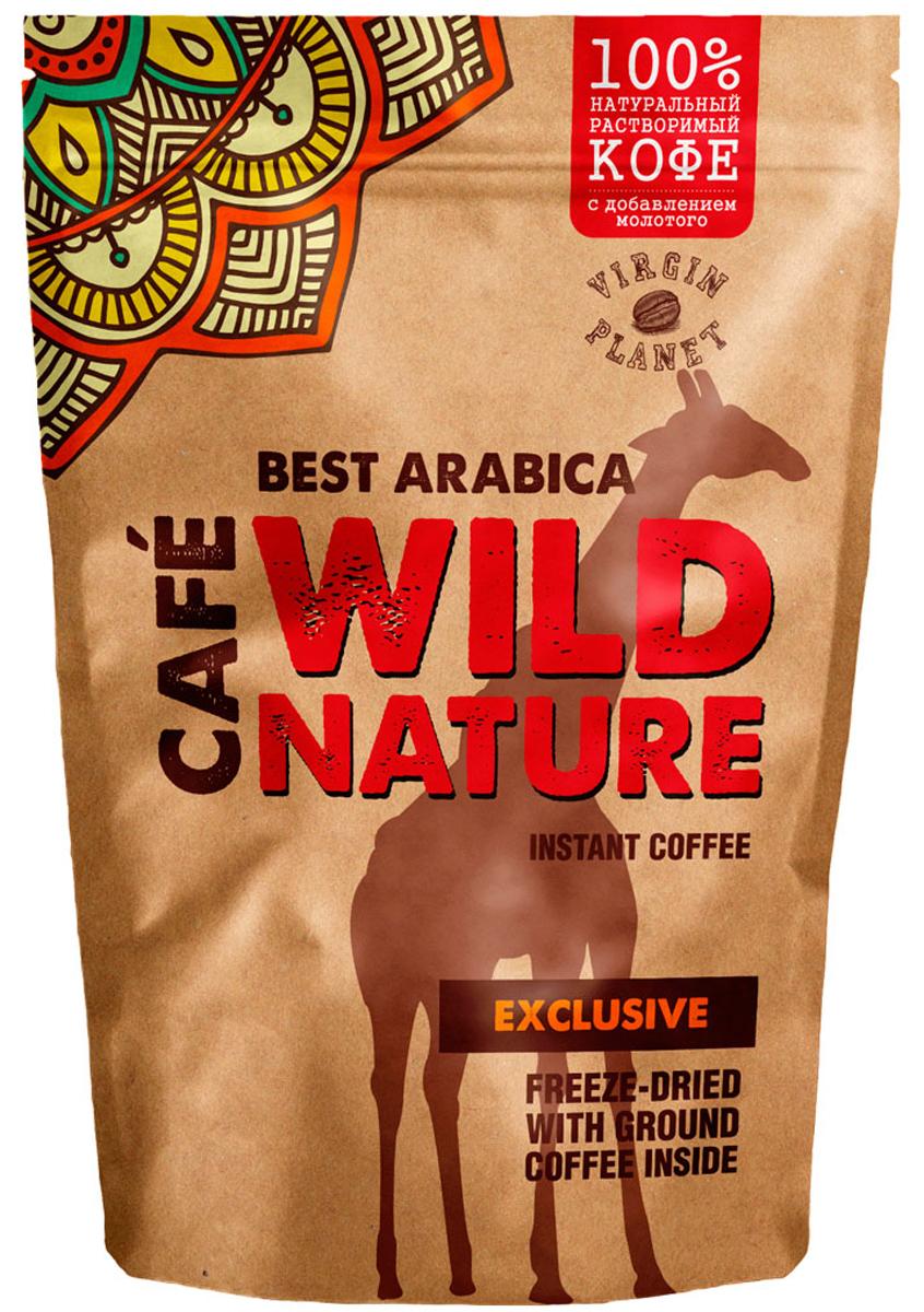 Wild Nature Exclusive кофе растворимый, 75 г5060414010038Wild Nature Exclusive- кофе из Арабики с высокогорных плантаций Индии и Кении. Оптимальное сочетание растворимых гранул и частиц натурального кофе полностью раскрывают насыщенный вкус и аромат. Кофе средней обжарки с легкой горчинкой и винным оттенком вкуса Арабики несомненно придется по вкусу всем любителям этого напитка.