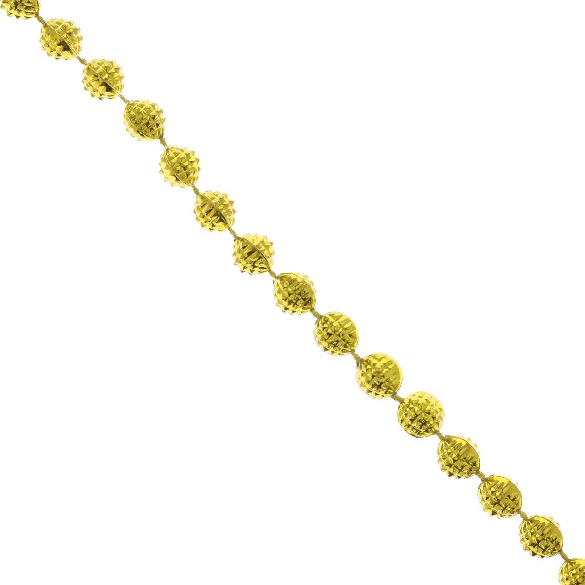 Новогодняя гирлянда Феникс-презент Маскарад, цвет: золотистый, длина 2,7 м38670Новогодняя гирлянда Феникс-презент Маскарад, выполненная из полистирола, украсит интерьервашего дома или офиса в преддверии Нового года. Гирлянда представляет собой бусины нанити. Оригинальный дизайн и красочное исполнение создадут праздничное настроение. Новогодние украшения всегда несут в себе волшебство и красоту праздника. Создайте в своемдоме атмосферу тепла, веселья и радости, украшая его всей семьей. Диаметр бусины: 5 мм.