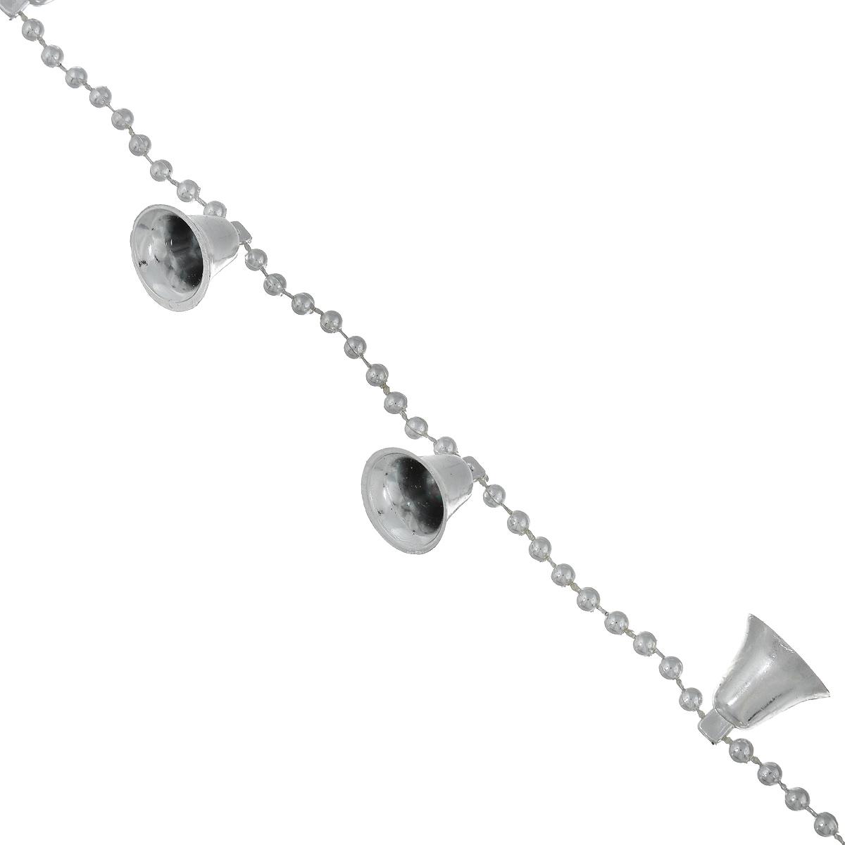 Новогодняя гирлянда Феникс-презент Колокольчики, цвет: серебристый, 2,7 м феникс презент
