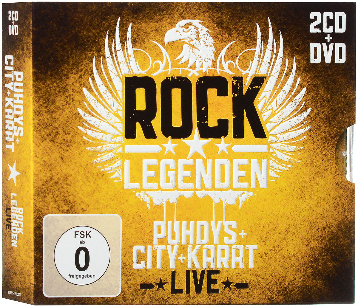 Puhdys + City + Karat. Rock Legenden Live (2 CD + DVD) mit mh 750 us power cable 2 0m