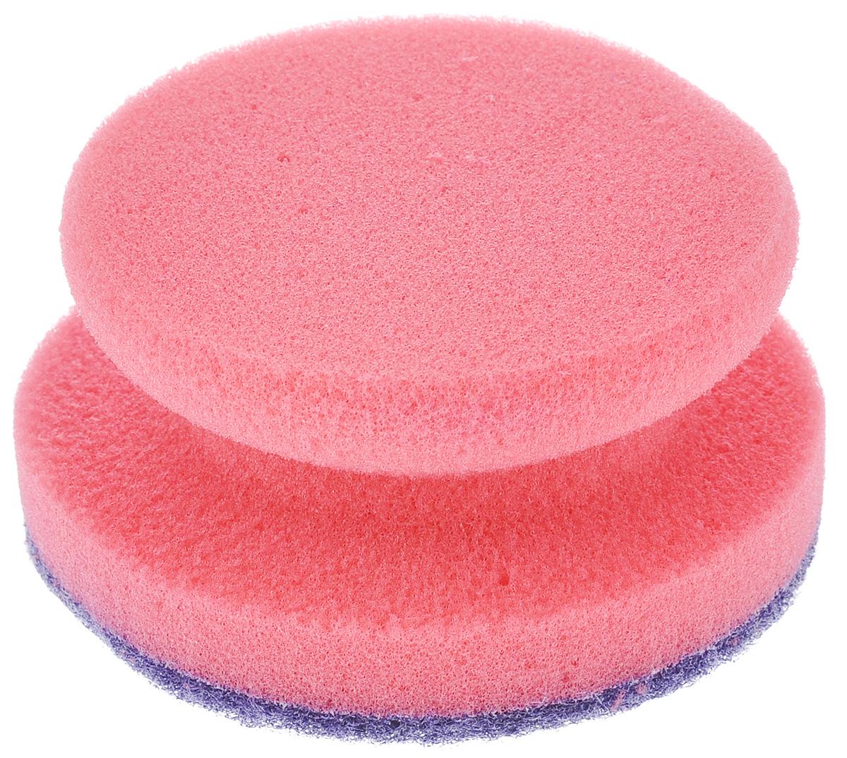 Губка для посуды La Chista Анатомик, с держателем, цвет: розовый, 9,5 см х 9,5 см х 4,5 см870323_розовыйКруглая губка La Chista Анатомик, изготовленная из мягкого поролона с абразивными материалами, предназначена для уборки и мытья посуды. Они идеально удаляют жир, грязь и пригоревшую пищу. Форма губки позволяет удобно ее удерживать.Особенности:Изготовлены из экологически чистого сырья.Не содержит фреонов и метилгидрохлорида.Высокая плотность поролона экономит моющее средство.