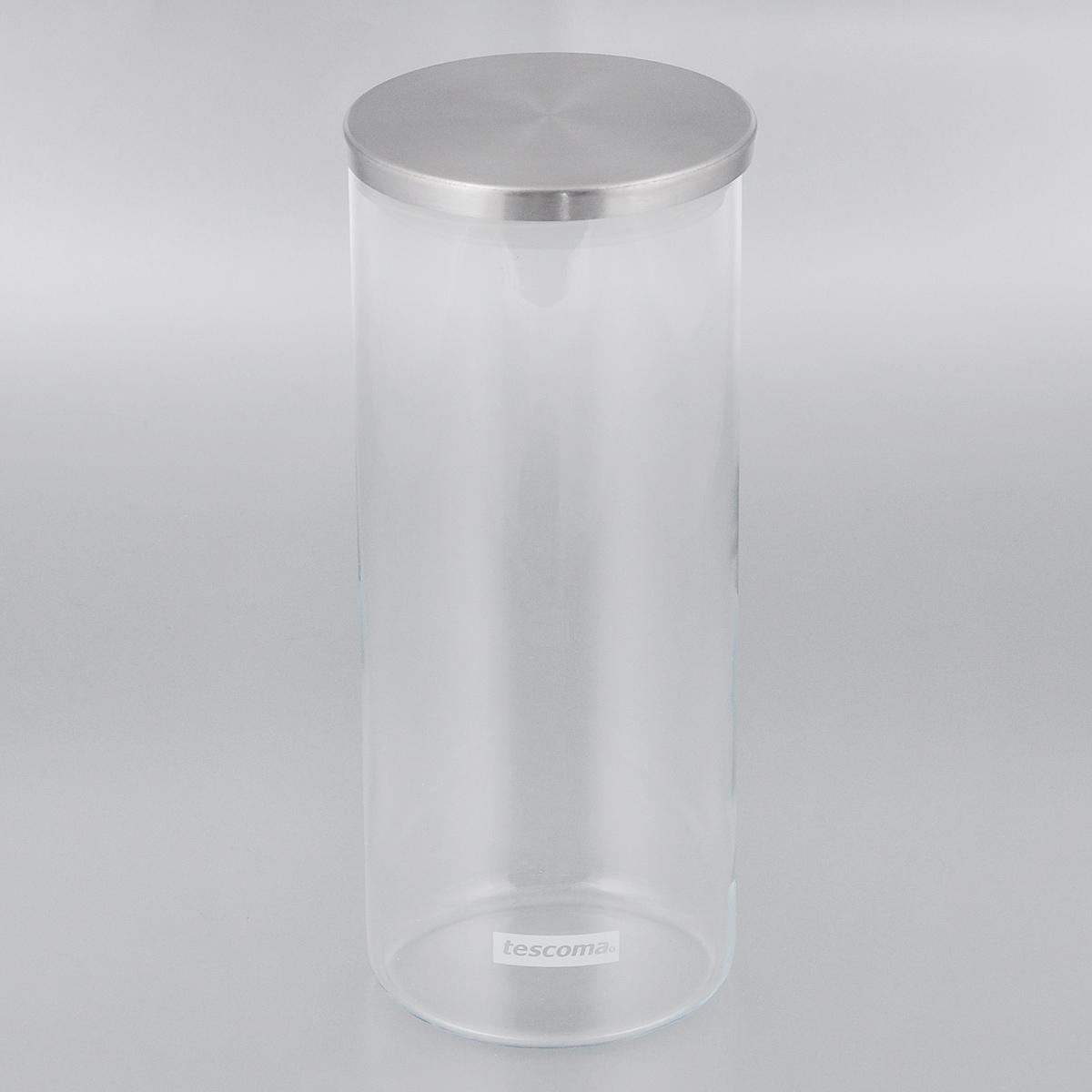 Емкость для специй Tescoma Monti, цвет: прозрачный, металлик, 1,4 л894824Емкость для специй Tescoma Monti, изготовленная из прочного боросиликатного стекла, позволит вам хранить разнообразные специи. Емкость оснащена плотно прилегающей крышкой, изготовленной из первоклассной нержавеющей стали и прочной пластмассы и снабженная силиконовой прокладкой. Емкость для хранения специй станет незаменимым помощником на кухне.Можно мыть в посудомоечной машине, крышку - нельзя. Диаметр по верхнему краю: 9,5 см.Диаметр дна: 9 см.Высота без учета крышки: 23 см.Высота с учетом крышки: 23,5 см.Объем: 1,4 л.