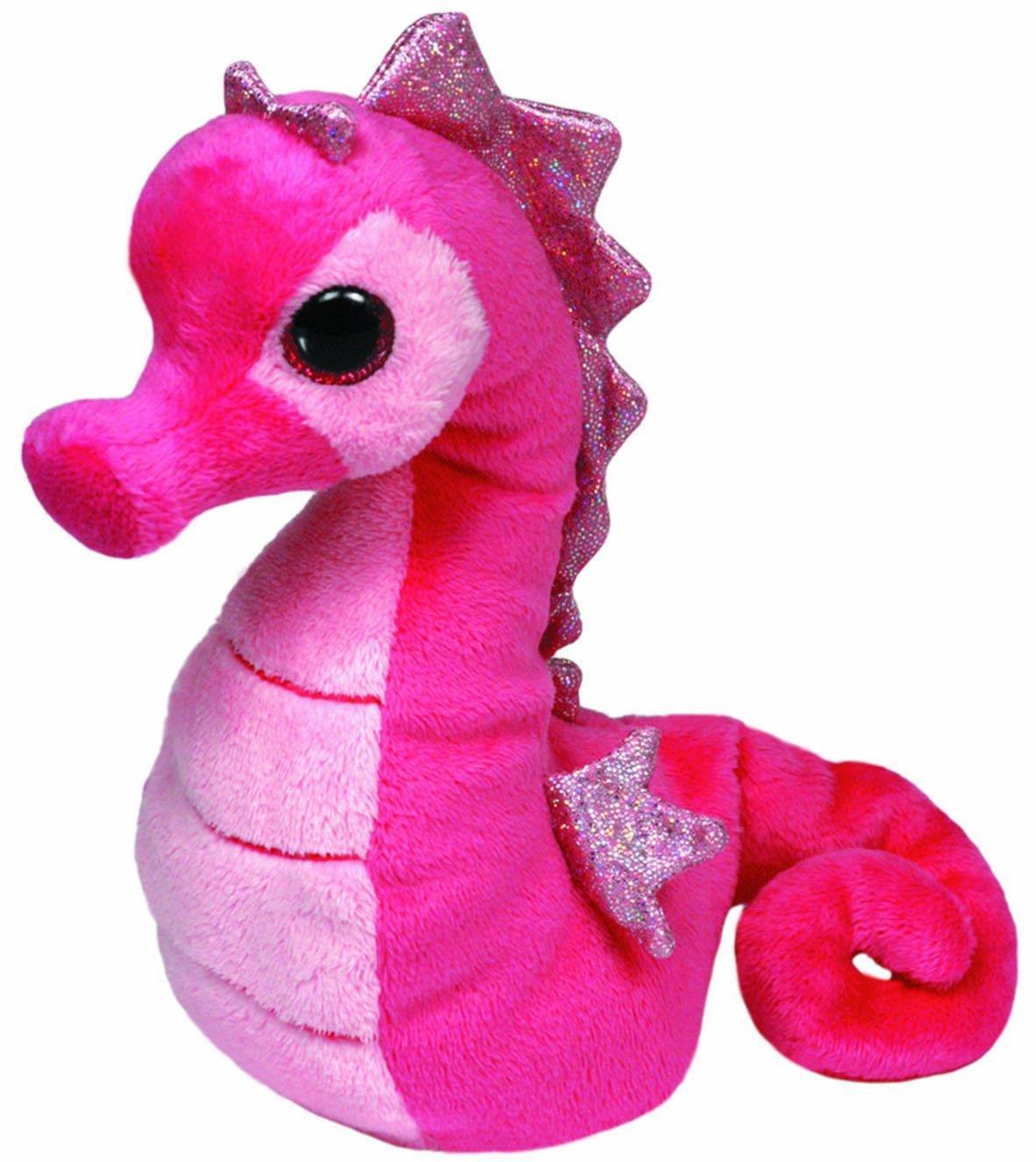 Majestic Мягкая игрушка Beanie Babies Морской конек цвет розовый 17 см
