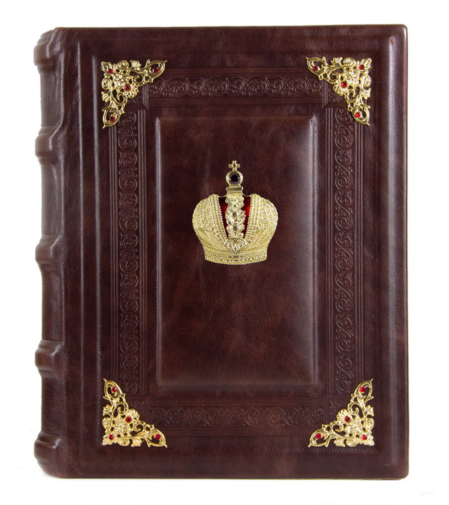 Фотоальбом кож. с уголками Корона в коробке фотоальбом кож с тиснением корона в футляре