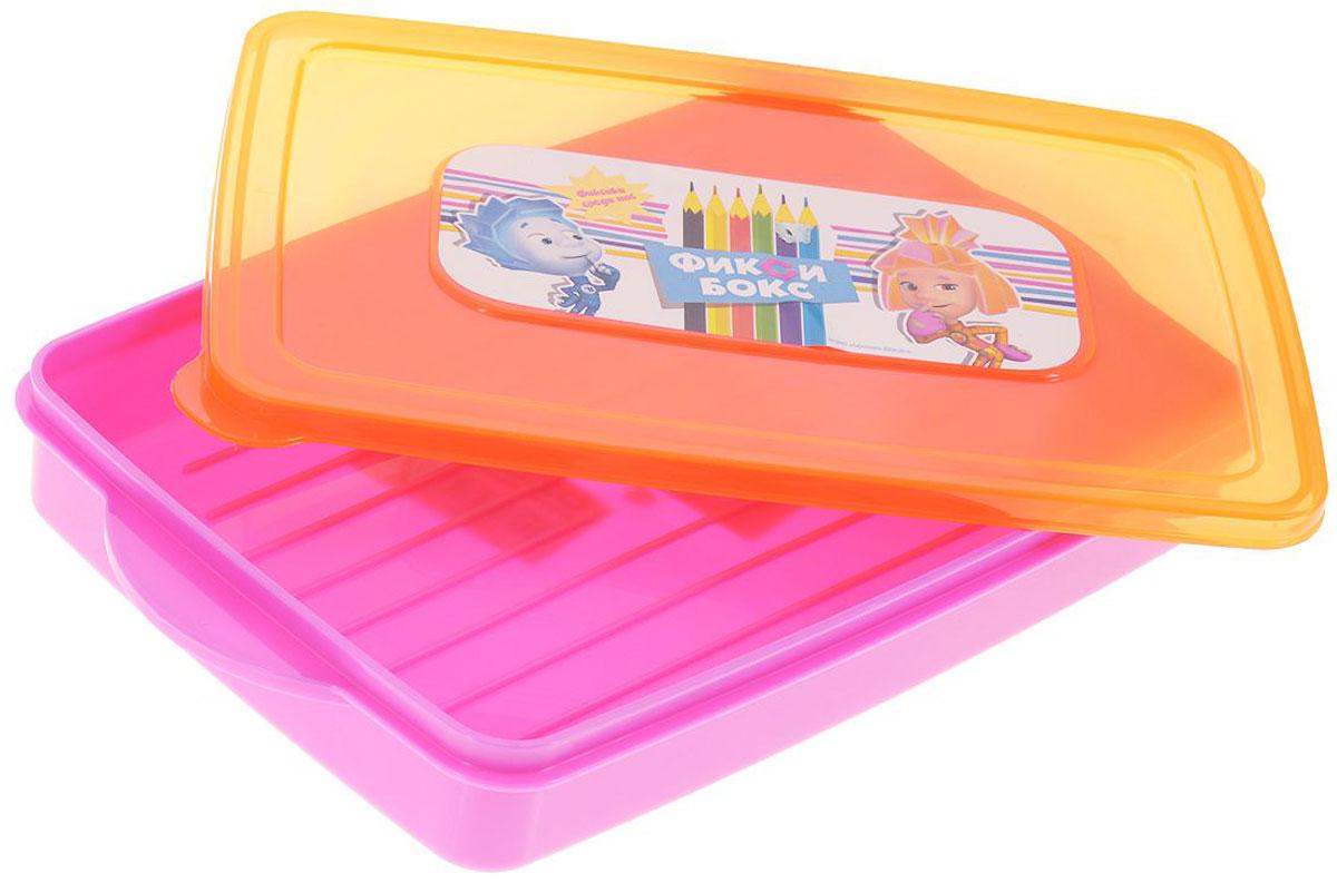 Полимербыт Контейнер Фиксики для фломастеров и карандашей цвет розовый оранжевый 600 млС45022Контейнер Полимербыт Фиксики изготовлен из высококачественного цветного пластика и декорирован изображением героев одноименного мультика Фиксики. Плотно закрывается крышкой. Контейнер Полимербыт Фиксики очень вместителен и поможет вам хранить все необходимые мелочи, например, ручки, фломастеры, карандаши и другое, в одном месте. Объем контейнера: 600 мл.