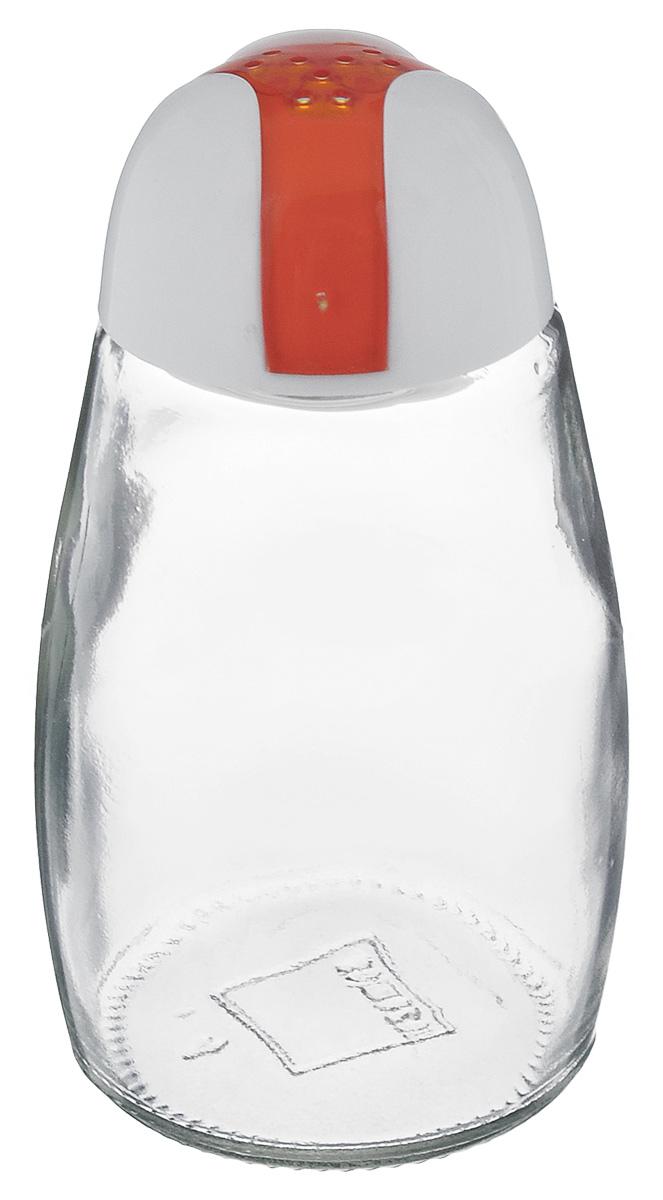 Банка для специй Herevin, цвет: белый, оранжевый, 105 мл. 121012-000121012-000_белый, оранжевыйБанка для специй Herevin выполнена из прозрачного стекла иоснащена пластиковой цветной крышкой с отверстиями,благодаря которым, вы сможете приправить блюда, просто перевернув банку.Крышка легко откручивается, благодаря чему засыпать приправу внутрь оченьпросто.Такая баночка станет достойным дополнением к вашему кухонному инвентарю. Можно мыть в посудомоечной машине.Объем: 105 мл. Диаметр (по верхнему краю): 2 см. Высота банки (без учета крышки): 9 см.