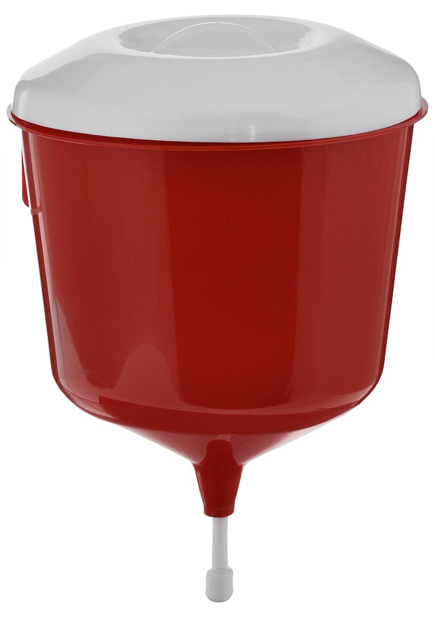 Рукомойник Альтернатива Дачник, цвет: красный, белый, 3 лМ1157Рукомойник Альтернатива Дачник изготовлен из пластика. Он предназначен для умывания в саду или на даче. Яркий и красочный, он отлично впишется в окружающую обстановку. Петли обеспечивают вертикальное крепление рукомойника. Рукомойник оснащен крышкой, которая предотвращает попадание мусора. Рукомойник Альтернатива Дачник надежный и удобный в использовании.Диаметр рукомойника: 19 см. Высота рукомойника (с учетом крышки): 30 см.