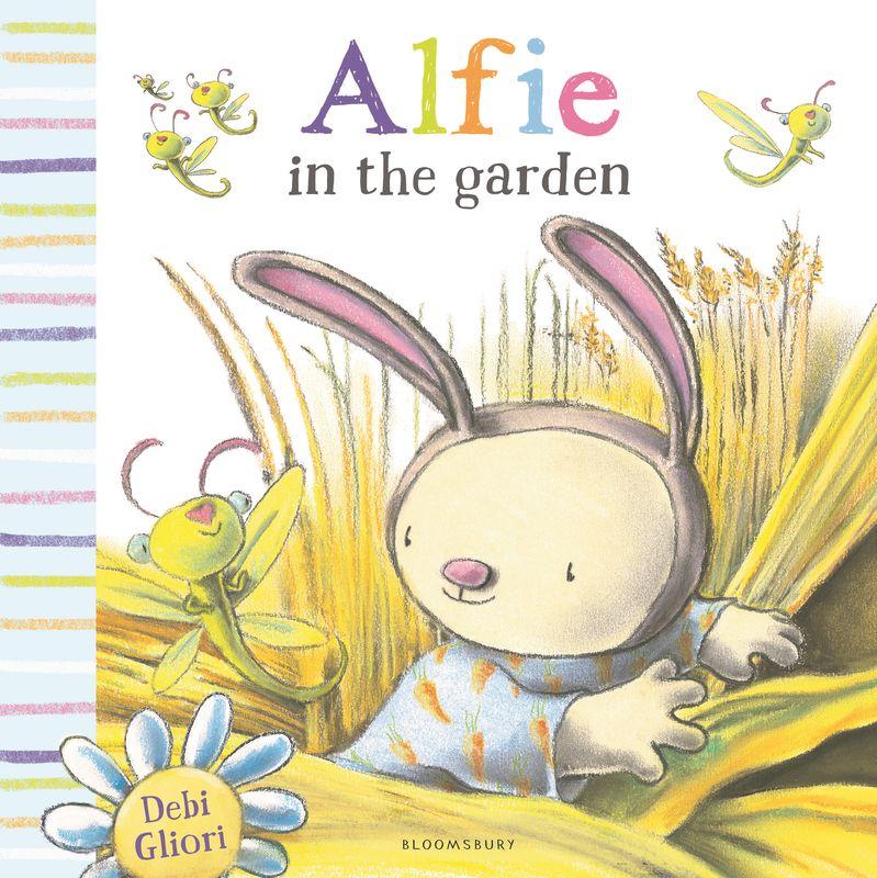 Alfie in the Garden alfie gets in first