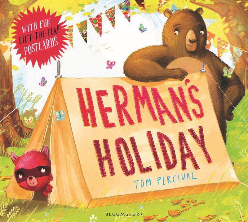 Herman's Holiday 25 postcards to colour on holiday