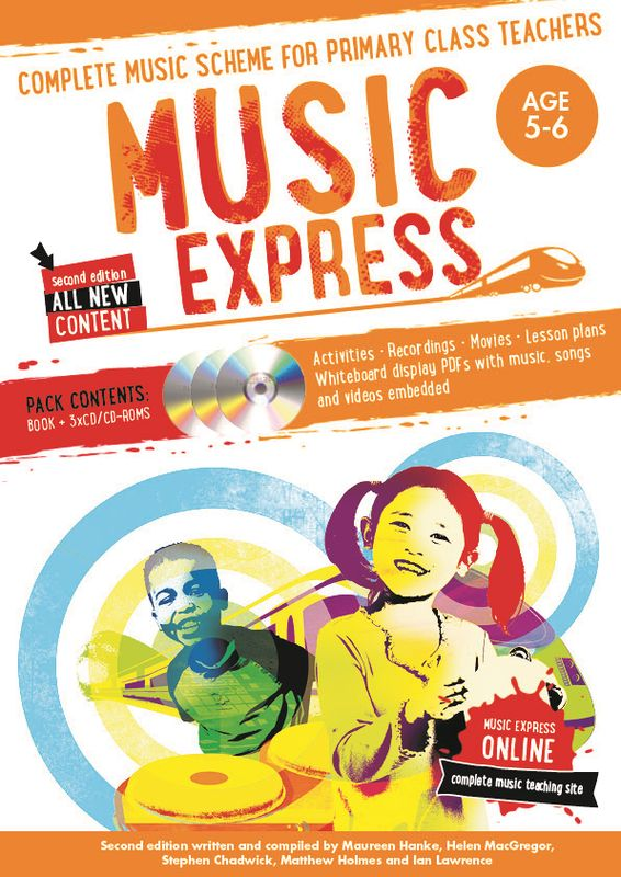 Music Express: Age 5-6 (Book + 3 CDs + DVD-ROM) music express age 9 10 book 3cds dvd rom