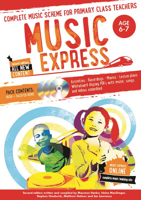 Music Express: Age 6-7 (Book + 3CDs + DVD-ROM) music express age 9 10 book 3cds dvd rom