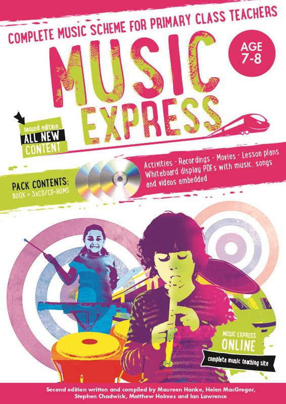Music Express: Age 7-8 (Book + 3CDs + DVD-ROM) music express age 9 10 book 3cds dvd rom