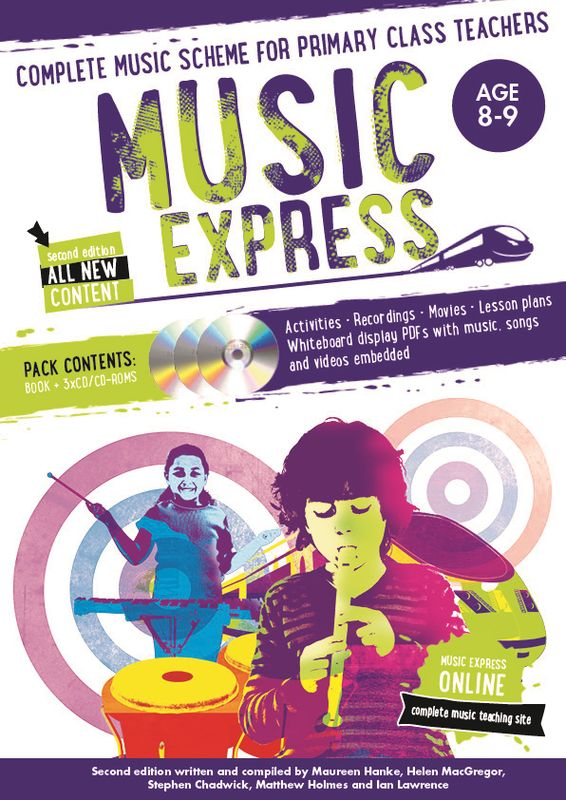 Music Express: Age 8-9 (Book + 3CDs + DVD-ROM) music express age 9 10 book 3cds dvd rom