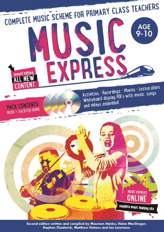 Music Express: Age 9-10 (Book + 3CDs + DVD-ROM) music express age 9 10 book 3cds dvd rom
