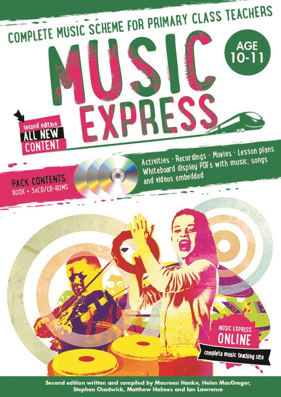 Music Express: Age 10-11 (Book + 3CDs + DVD-ROM) music express age 9 10 book 3cds dvd rom