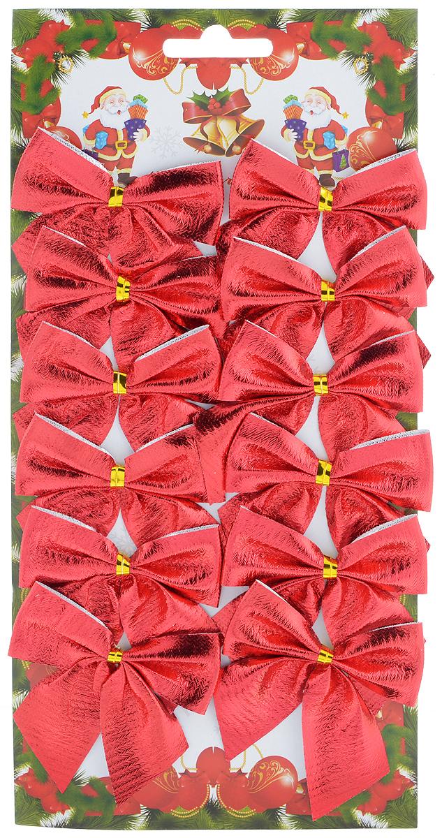 Набор новогодних украшений Феникс-Презент Бант, цвет: красный, 12 шт. 3918539185Набор новогодних украшений Феникс-Презент Бант прекрасно подойдет для праздничного декора новогодней ели. Набор состоит из 12 бантов, изготовленных из полиэстера. Для удобного размещения на елке с оборотной стороны банты оснащены двумя проволоками. Коллекция декоративных украшений принесет в ваш дом ни с чем не сравнимое ощущение волшебства! Откройте для себя удивительный мир сказок и грез. Почувствуйте волшебные минуты ожидания праздника, создайте новогоднее настроение вашим дорогим и близким. Размер украшения: 6 см х 7 см.