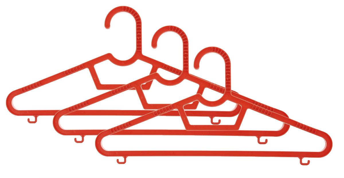 Набор вешалок Полимербыт, цвет: красный, размер 40-42, 3 штПБ 236_красныйНабор вешалок Полимербыт выполнен из пластика. Изделия оснащены перекладинами и крючками. Вешалка - это незаменимая вещь для того, чтобы ваша одежда всегда оставалась в хорошем состоянии.Комплектация: 3 шт. Размер одежды: 40-42.