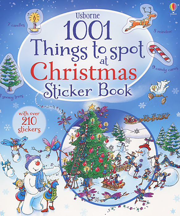 1001 Christmas Things to Spot Sticker Book spot dobble find it board game for children fun with family gathering the animals paper quality card