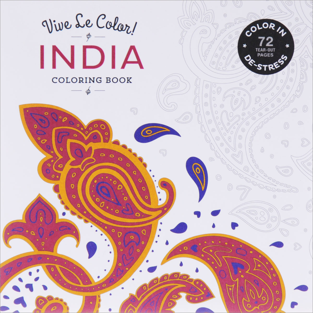 India: Coloring Book coloring of trees