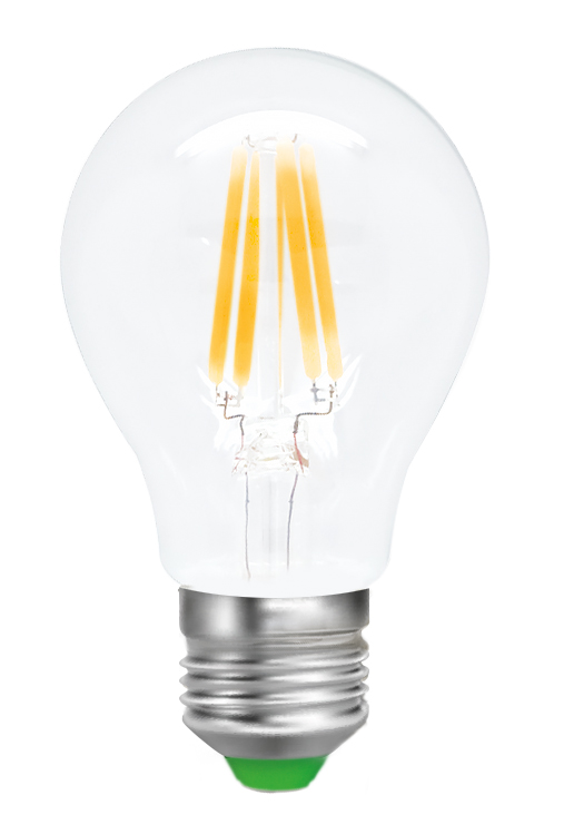 Лампа светодиодная Smartbuy Filament, А60, теплый свет, цоколь Е27, 8 ВтSBL-A60F-8-30K-E27Светодиодная лампа Smartbuy Filament - новинка на рынке светодиодных ламп! Светодиодная лампа A60 Filament - энергосберегающая лампа для общего и декоративного освещения, подходит для замены стандартных ламп накаливания и галогенных. Колба лампы прозрачная, грушевидной формы. В лампе использован совершенно иной светодиод, он выглядит как нить накаливания, от чего и получил название Filament. Лампа идеально подходит к любому светильнику, в котором используются данные типы ламп. Хорошо будет смотреться даже в открытых светильниках. Особенности: - Угол рассеивания светового пучка 360 градусов. - Хорошая цветопередача. - Отсутствие мерцания обеспечивает меньшую утомляемость глаз. - Высокоэффективный драйвер обеспечивает стабильную работу. - Большой срок службы - 30 000 часов работы. - Широкий рабочий температурный режим от -25° до +45°С. - Не содержит ртуть, экологически безопасна. - Не нагревается даже за целый день, но при этом имеет высокую светоотдачу. Тип колбы: А60. Индекс цветопередачи: RA>80. Частота: 50 Гц. Напряжение: 220-240 В. Коэффициент мощности: 0,06.